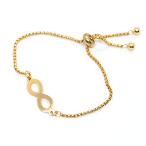 Kociokwik biżuteria bransoletka stal szlachetna z nieskończonością