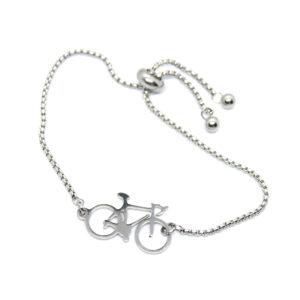 Kociokwik biżuteria bransoletka stal szlachetna z rowerem