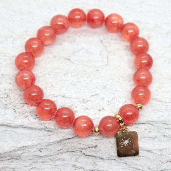 Kociokwik biżuteria bransoletka jadeit i stal szlachetna