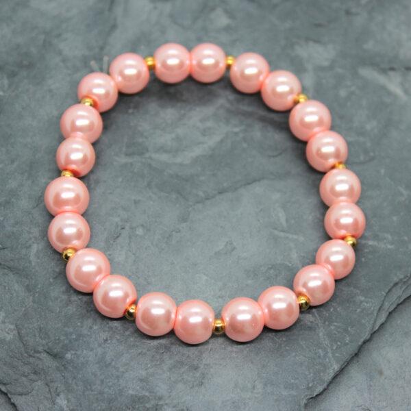 Kociokwik biżuteria bransoletka szklane perełki