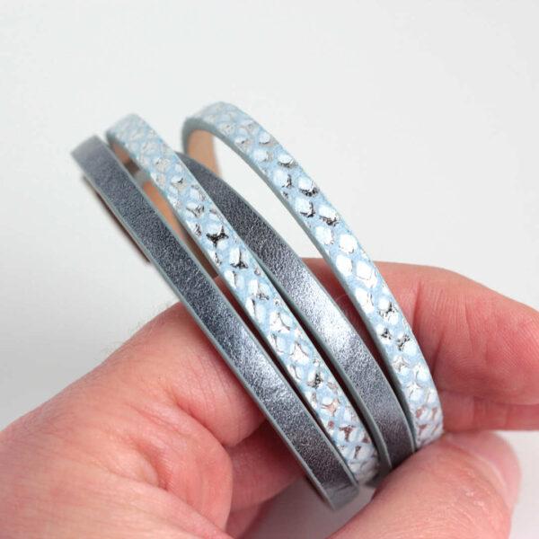 meska-bransoletka-niebieska-z-rzemieni-i-stalowego-zapiecia