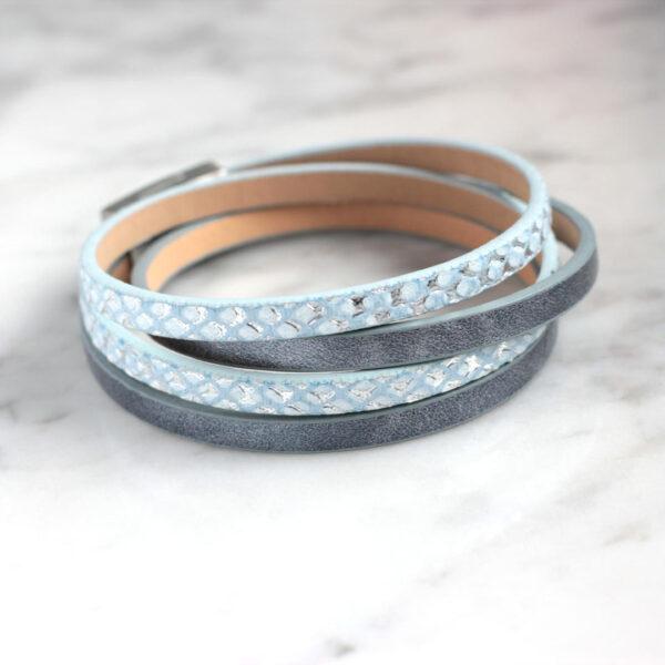 unisex-bransoletka-niebieska-z-rzemieni-i-zapiecia-na-magnes