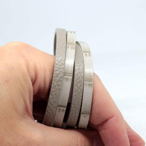 unisex-bransoletka-rzemienie-szary-bez-magnetyczne-zapiecie